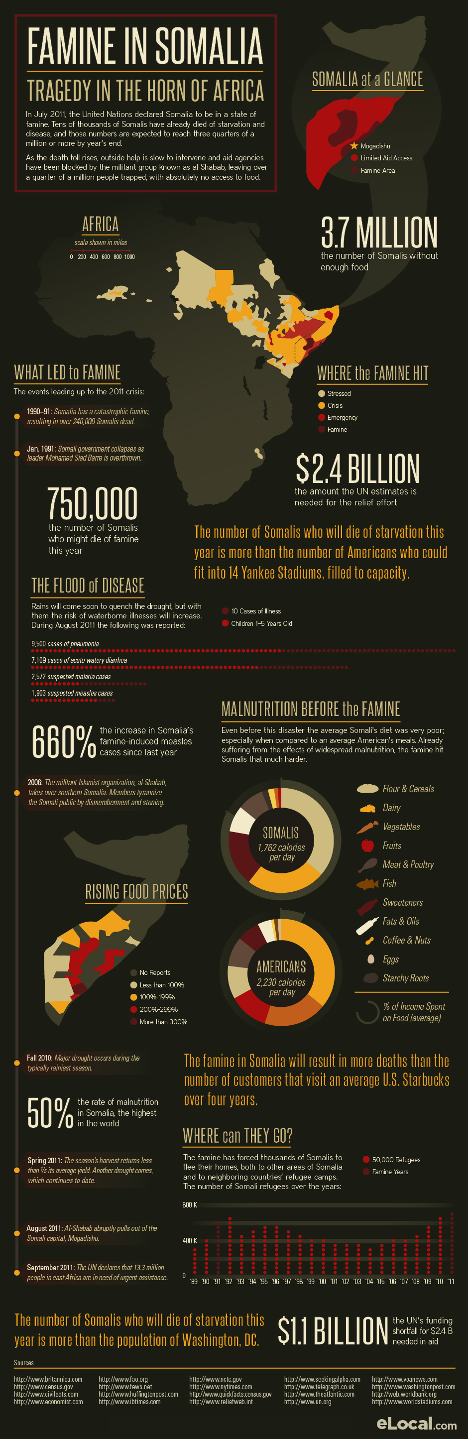 Famine in Somalia Infographic